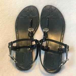 COACH Black Pansy sandal